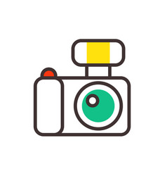 photo camera reflection movie instrument on vector image