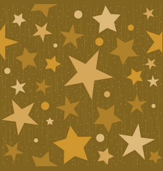 seamless star glitter background vector image vector image