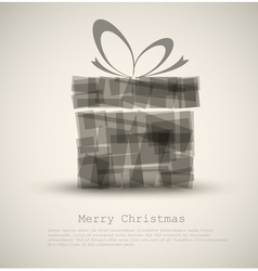 simple christmas card vector image vector image