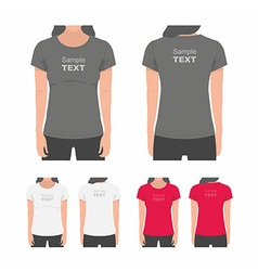 Women t-shirt design template vector image vector image