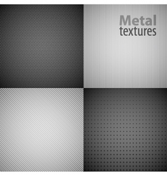 4 Metal Texture Backgrounds vector image