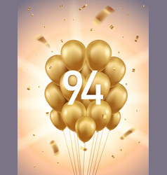 94th year anniversary background vector image