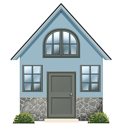 A simple single detached house vector image