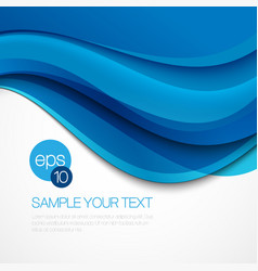 Abstract background with blue wave vector