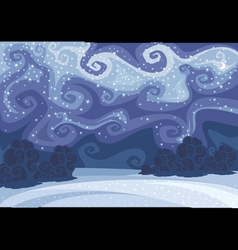 Abstract beautiful winter night landscape vector