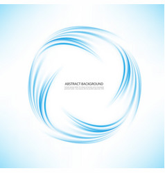 abstract blue swirl circle on transparent vector image