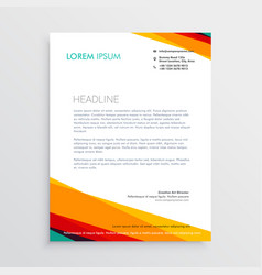 Abstract colorful letterhead design template for vector