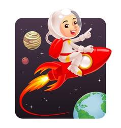 Astronaut Kid vector image