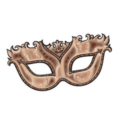 Beautifully decorated golden venetian carnival vector