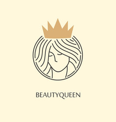 beauty and fashion queen logo design vector image