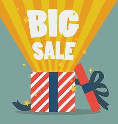 Big sale with a Christmas gift box vector