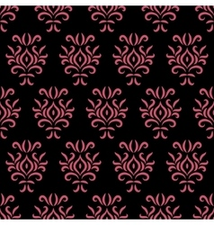 Black and pink damask stylized seamless pattern vector image