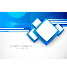 Blue background with squares vector