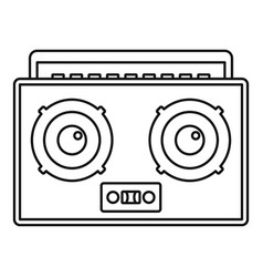 boombox icon outline style vector image