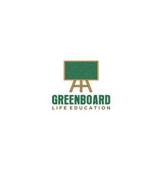 Chalkboard logo design for education school vector