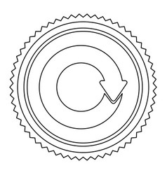 Circular frame contour with circular reuse symbol vector