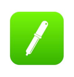 color picker pipette icon digital green vector image