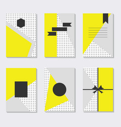 cute and trendy assorted yellow gray and white vector image