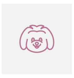 Cute smile koala modern line logo design vector