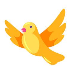 Decorative yellow bird vector