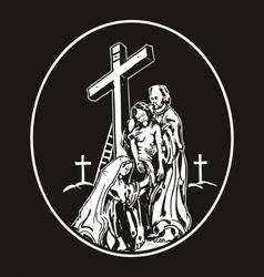 descend of jesus vector image