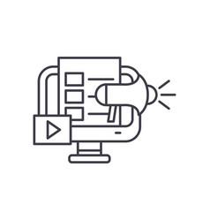 digital marketing line icon concept digital vector image