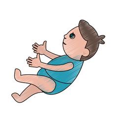 drawing baby son newborn vector image
