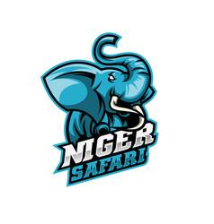 Elephant mascot logo design vector