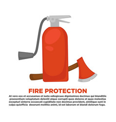 fire protection information and firefighting vector image