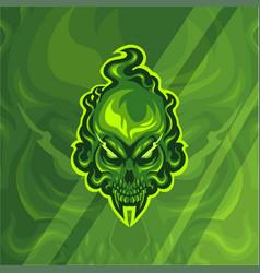 fire skull head mascot logo vector image