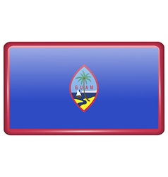 Flags Guam in the form of a magnet on refrigerator vector