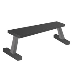 Flat Bench vector image
