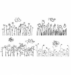 floral garden elements vector image