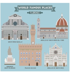 Florence Famous places vector image