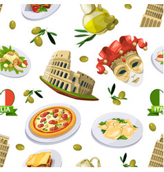 Food of italy cuisine of different vector