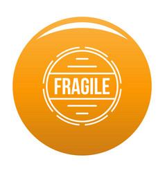 Fragile logo simple style vector