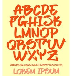 Graffiti font - Hand written - alphabet vector image