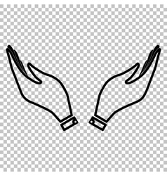 Hand icon Prayer symbol vector
