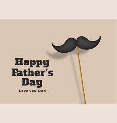 happy fathers day love dad background vector image