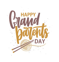 happy grandparents day message written with vector image