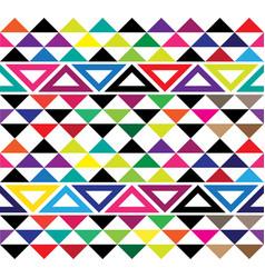 Hawaiian tribal rainbow tattoo seamless pattern vector