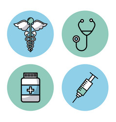 Healthcare related icons image vector