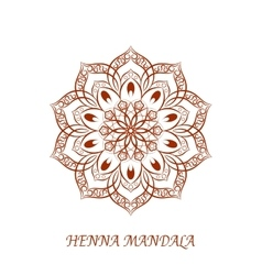 Henna Color Mandala over white vector