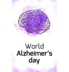 International alzheimers day vertical card vector