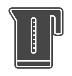 Kettle icon solid gray vector