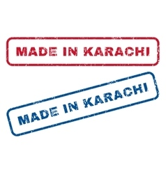 Made In Karachi Rubber Stamps vector