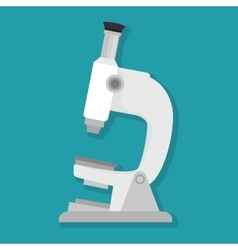 Microscope lab device isolated icon vector