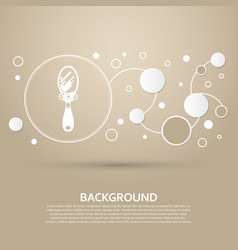 Mirror icon on a brown background with elegant vector