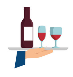 offering wine icon vector image