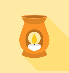 oil burner icon with long shadow vector image